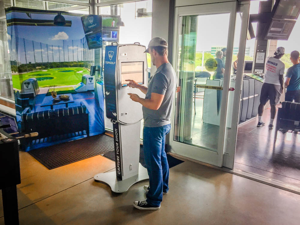 Topgolf Photo Kiosk and for engagement based marketing